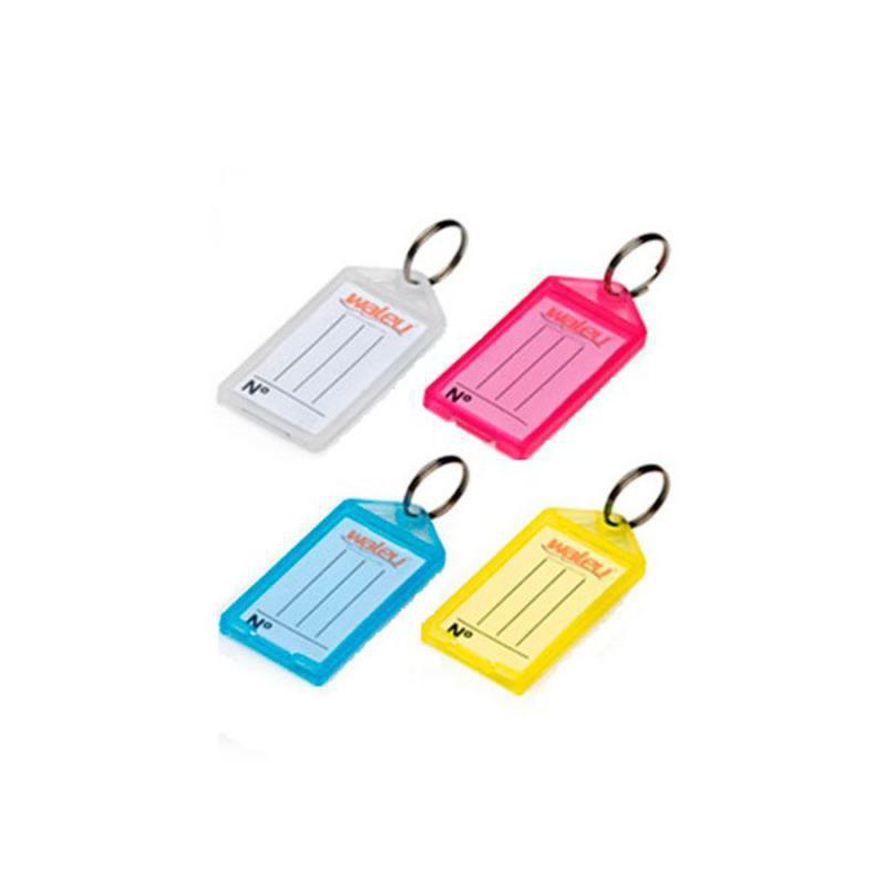 Chaveiro Plástico com Etiqueta Identificadora Colorida