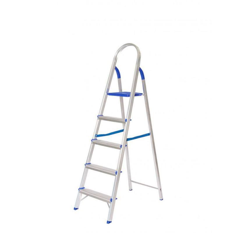 Escada Doméstica Alumínio 5 Degraus