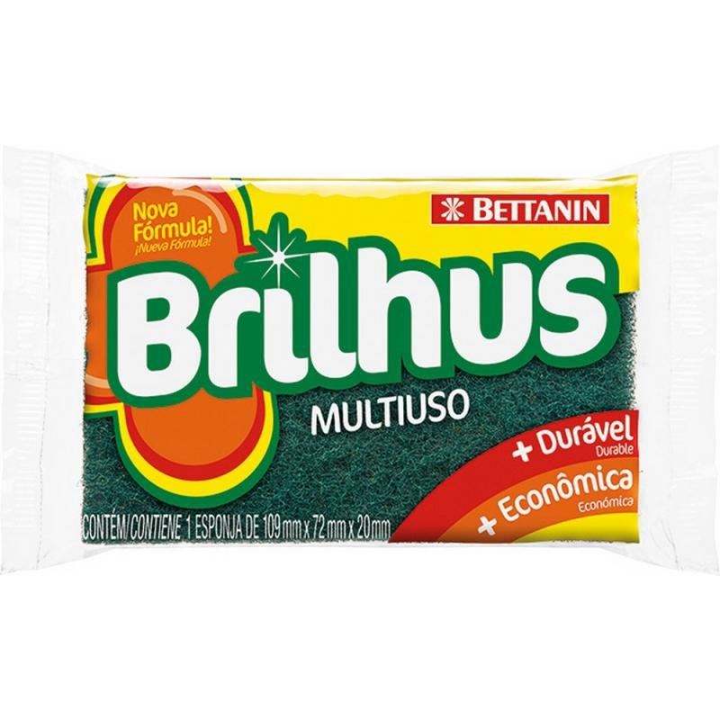 Esponja Brilhus Multiuso Dupla Face