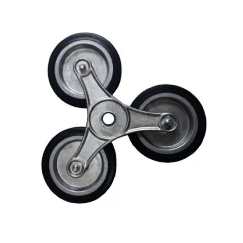 Estrela de Alumínio com Roda de Borracha para Subir Escada