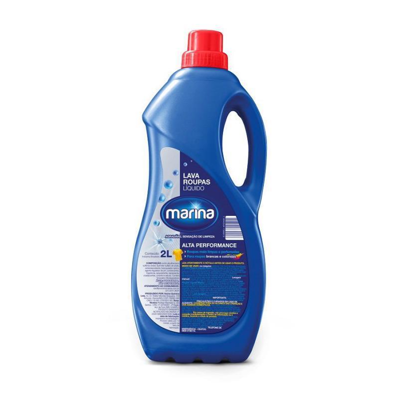 Lava Roupas Líquido 2 litros Marina