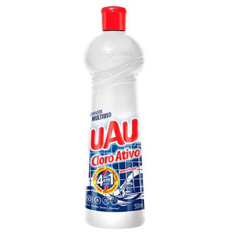Limpador Multiuso UAU Cloro Ativo 4 em 1 500 ml