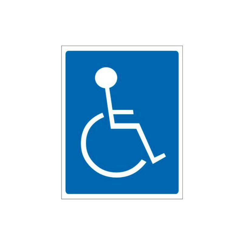 Placa de Aviso Cadeirante Poliestireno 15 x 20 cm