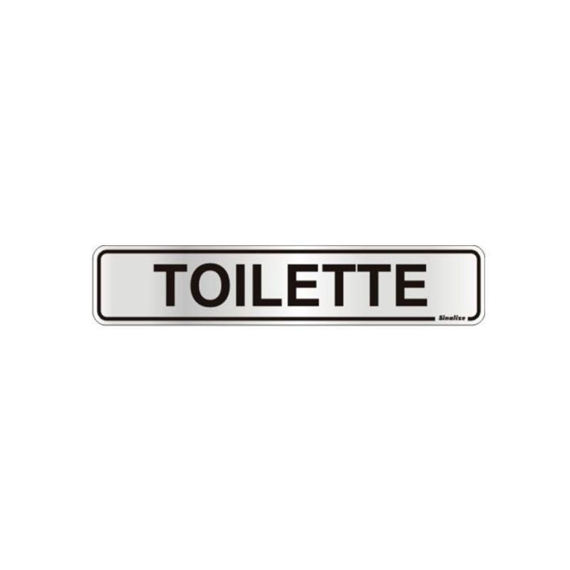 Placa de Aviso Toilette Alumínio 5 x 25 cm