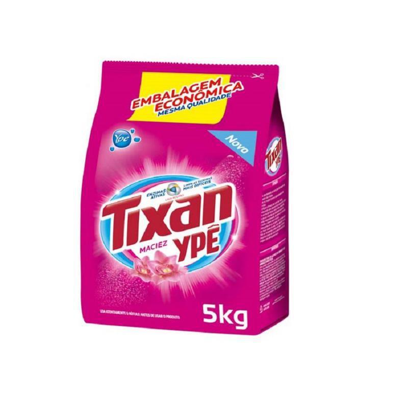 Sabão em Pó Tixan Ypê Maciez Rosa 5 kg