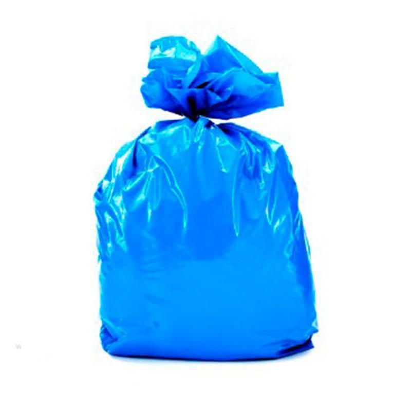 Saco de Lixo Azul 200 litros Médio 100uni
