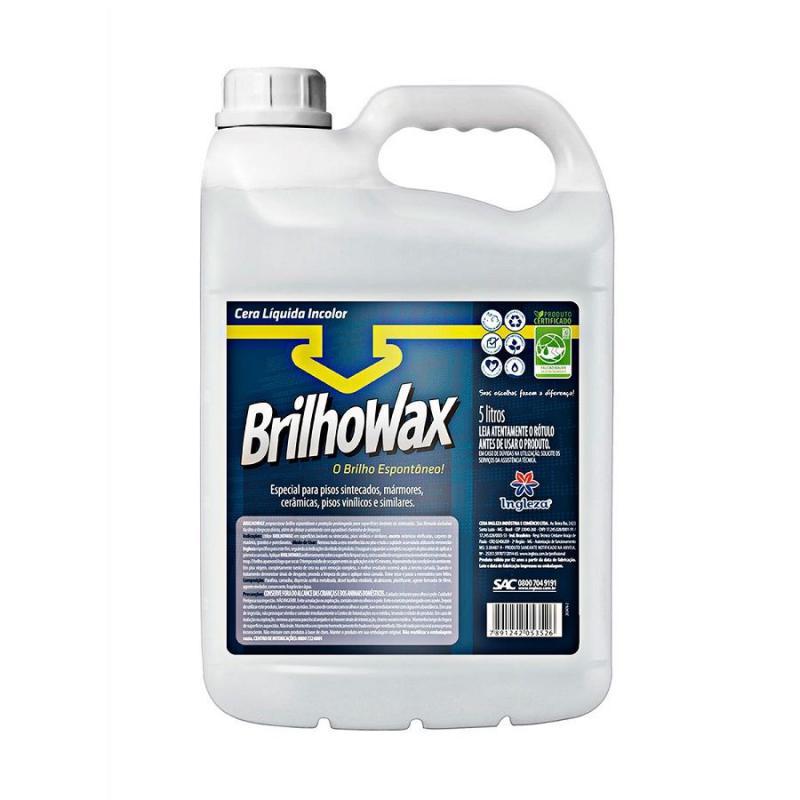 Cera Líquida Brilho Wax Incolor 5 litros Ingleza