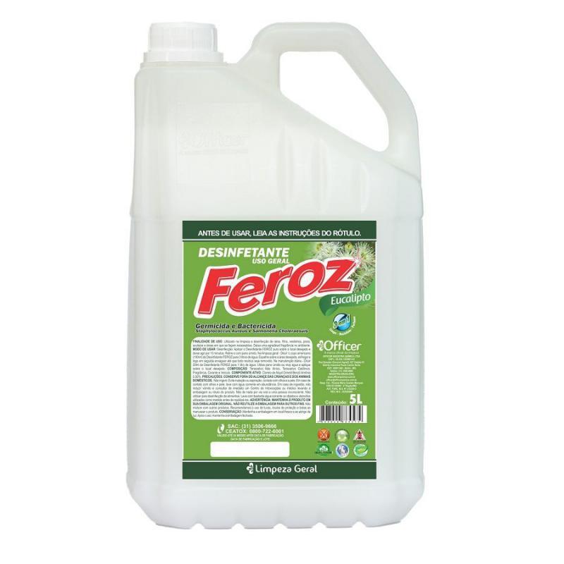 Desinfetante Feroz Eucalipto Pronto Uso 5 litros