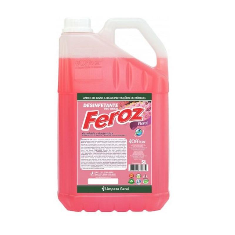 Desinfetante Feroz Floral Pronto Uso 5 litros