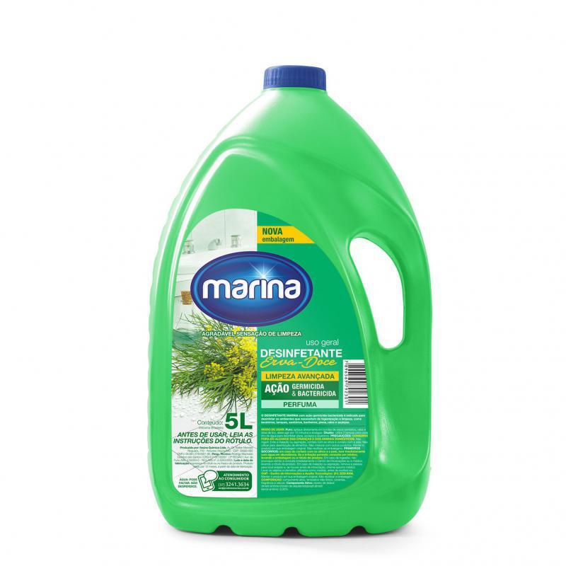 Desinfetante Marina Erva Doce Pronto Uso 5 litros