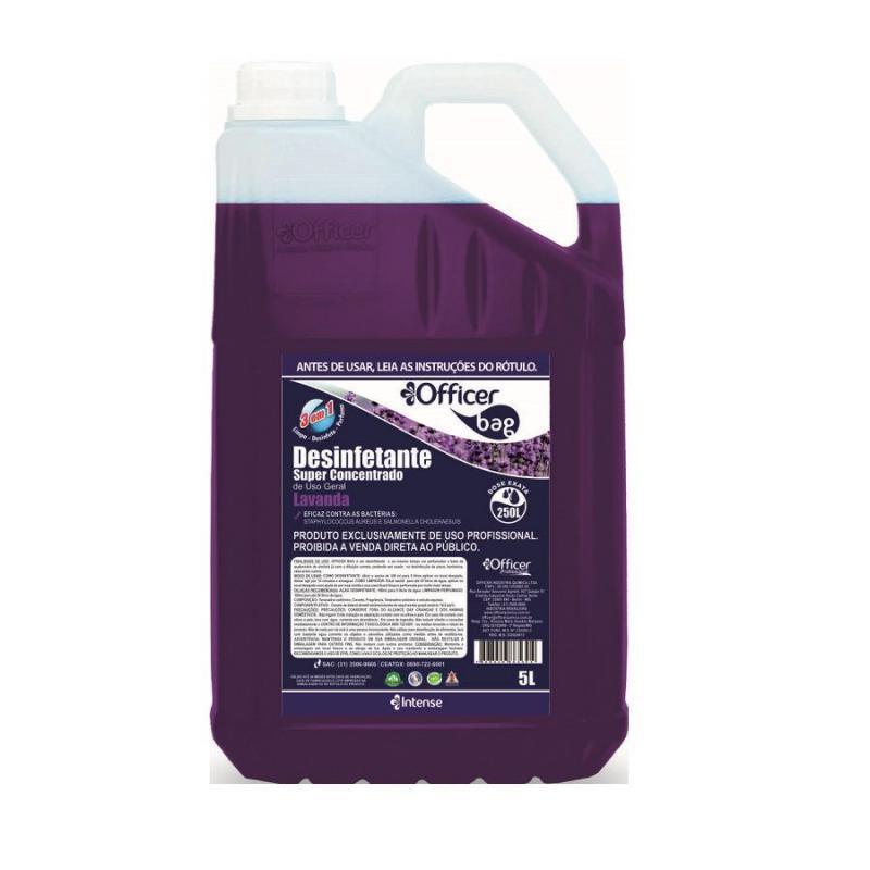 Desinfetante Super Concentrado Officer Bag Lavanda 5 litros