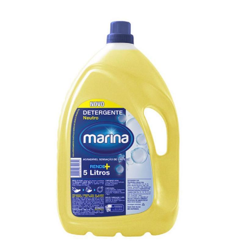 Detergente Líquido Marina Clear 5 litros