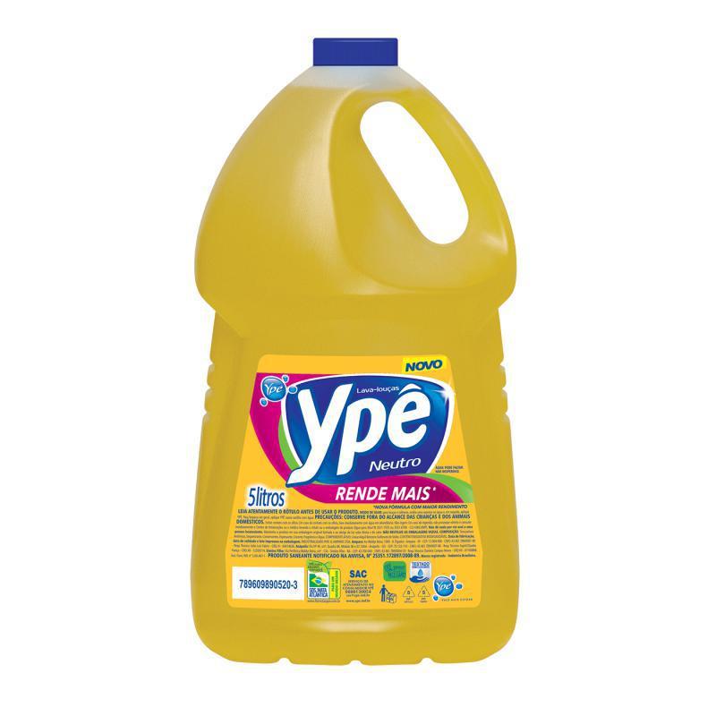 Detergente Líquido Ypê Neutro 5 litros