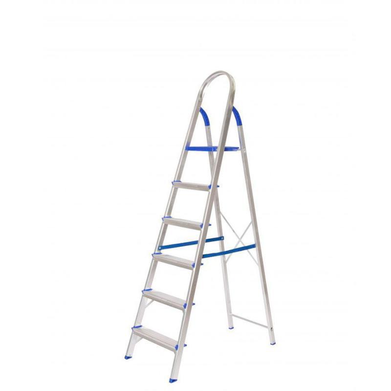Escada Doméstica Alumínio 6 Degraus