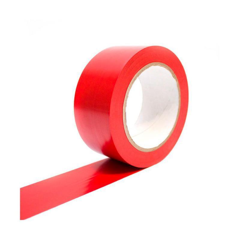 Fita de Demarcação PVC 48 cm x 30 mts Vermelha