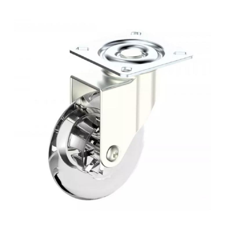 Rodízio de Silicone 75 mm Giratório sem freio